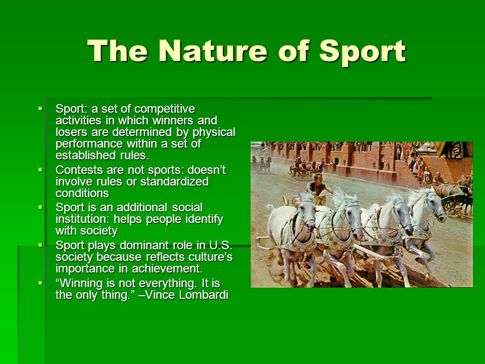 The Nature of Sport