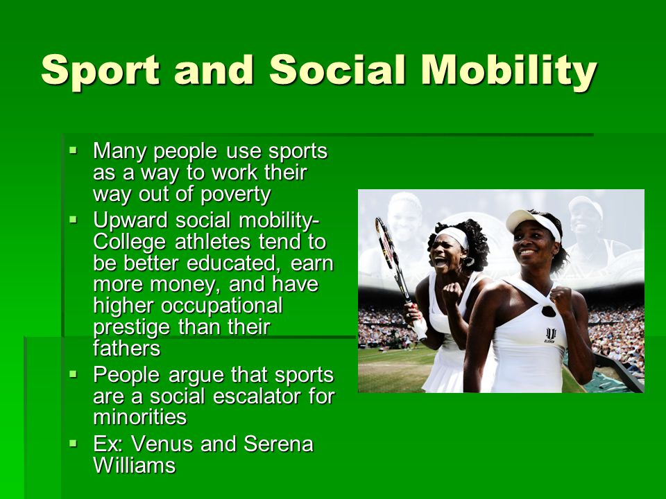 Sport and Social Mobility
