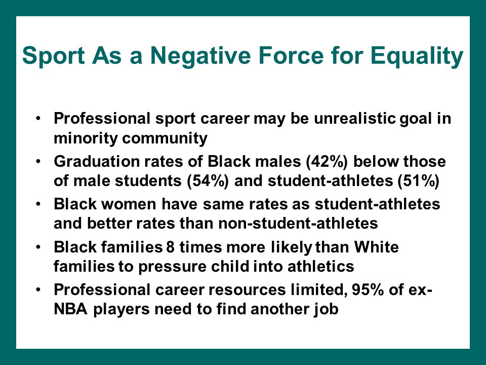 Sport As a Negative Force for Equality