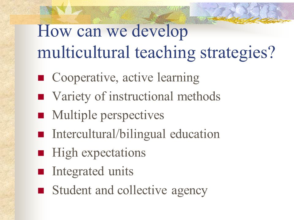 How can we develop multicultural teaching strategies