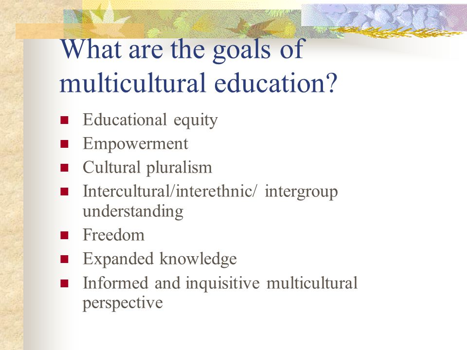 What are the goals of multicultural education