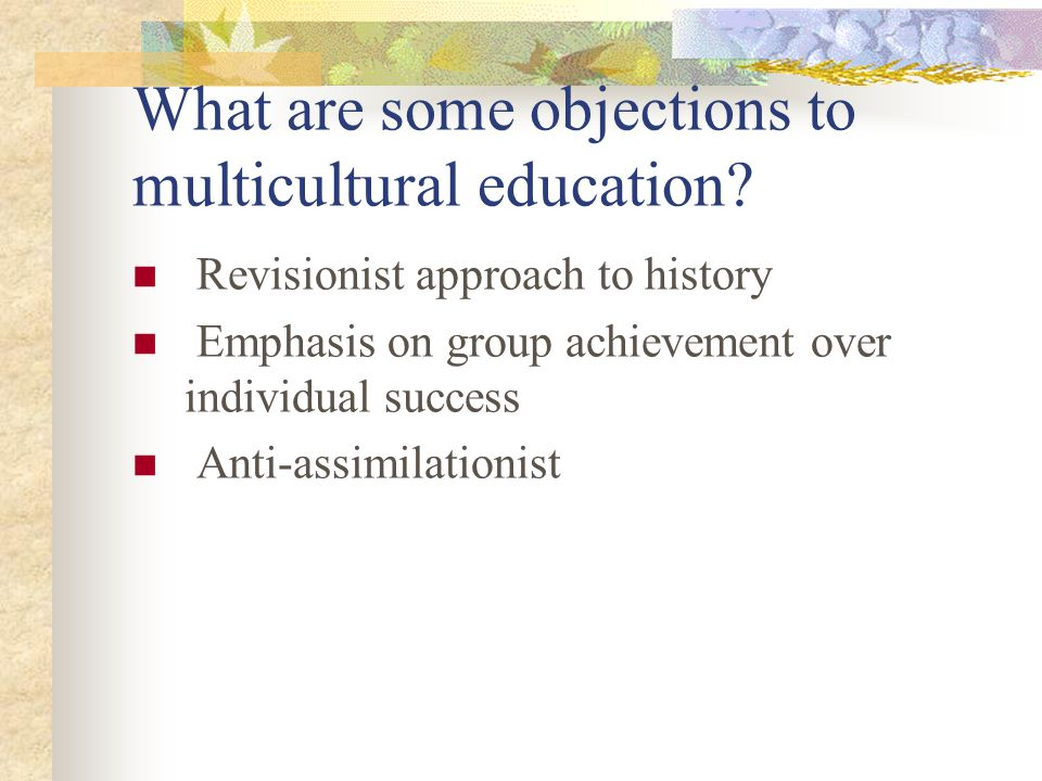 What are some objections to multicultural education