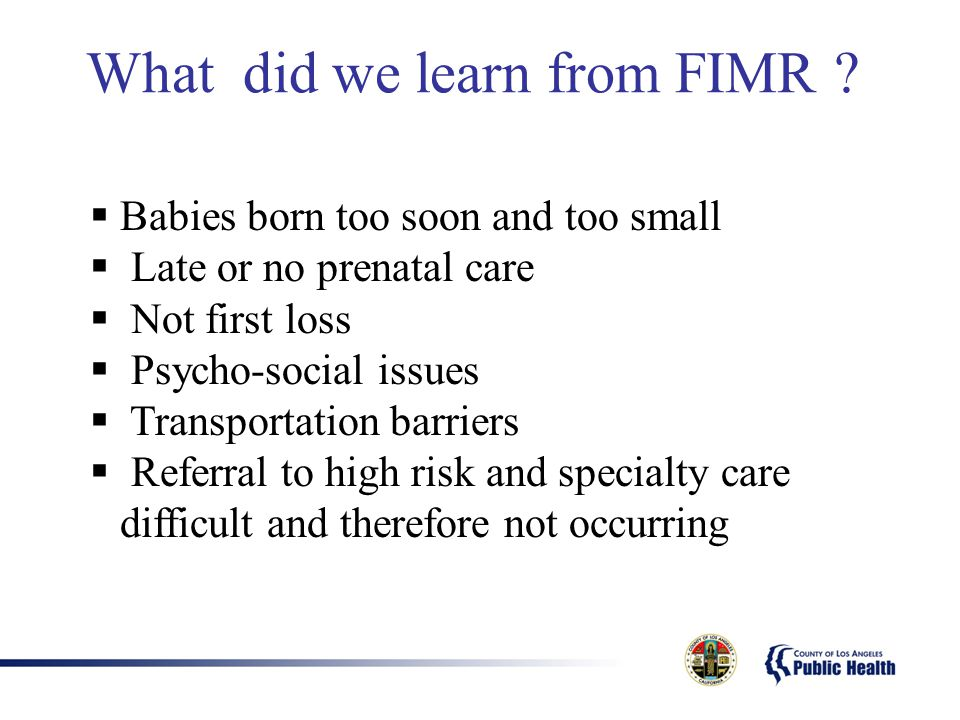 What did we learn from FIMR