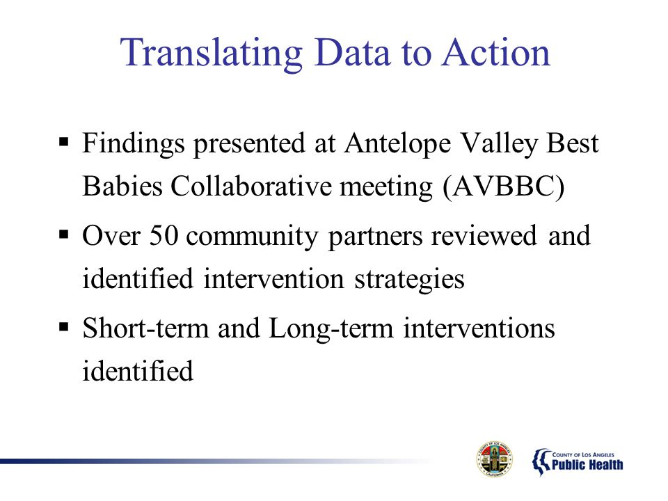 Translating Data to Action