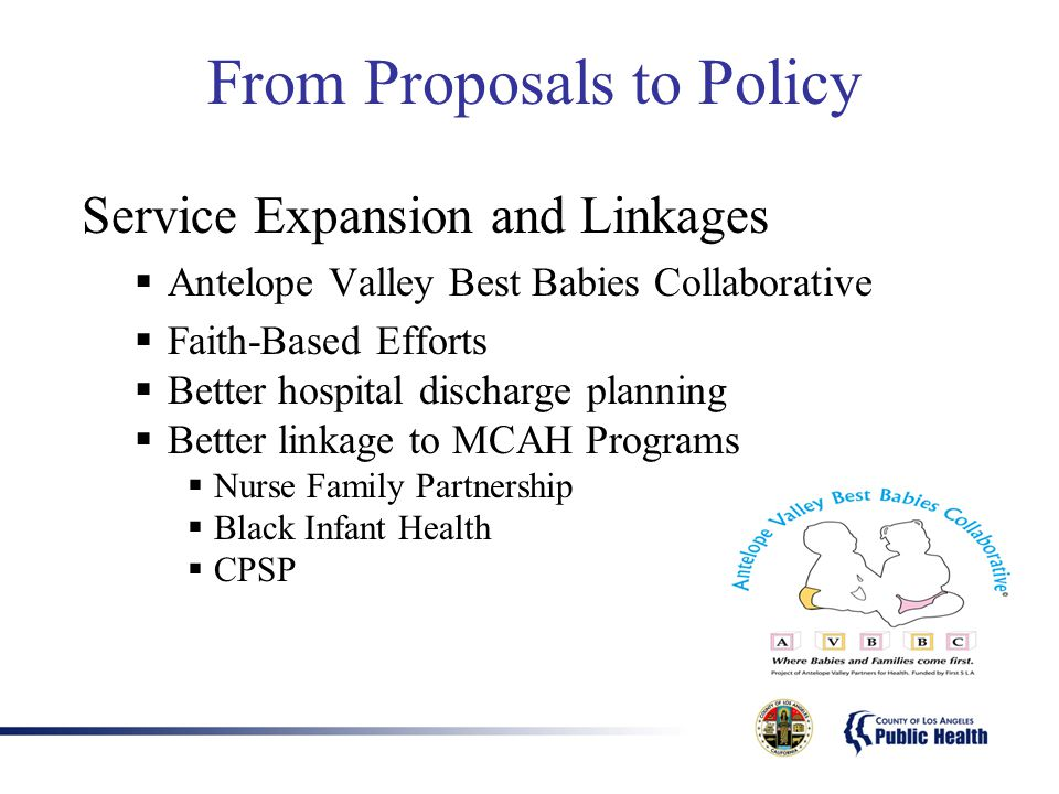 From Proposals to Policy