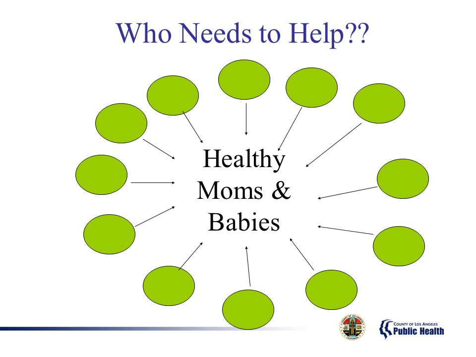 Who Needs to Help Healthy Moms & Babies