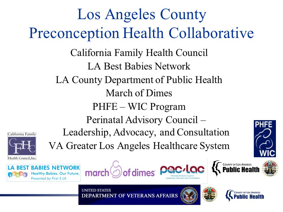 Los Angeles County Preconception Health Collaborative