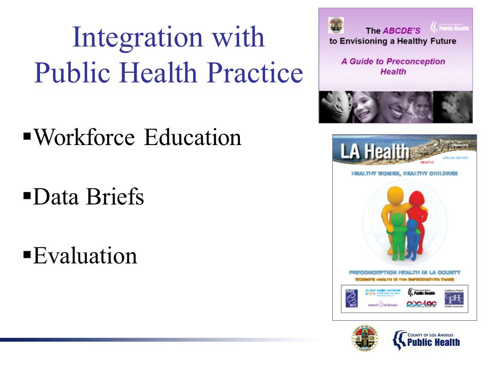 Integration with Public Health Practice