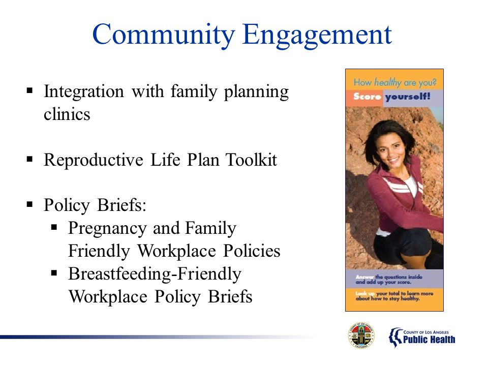 Community Engagement Integration with family planning clinics