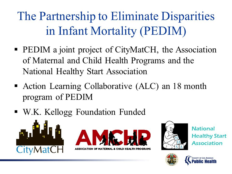 The Partnership to Eliminate Disparities in Infant Mortality (PEDIM)