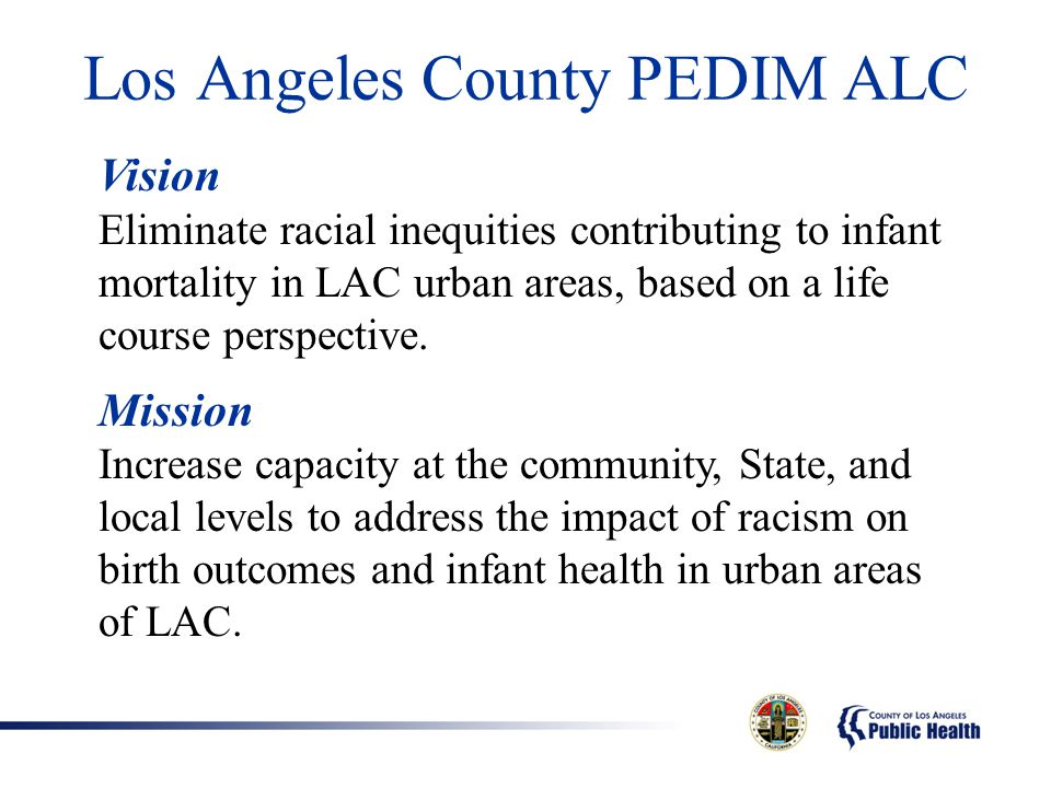 Los Angeles County PEDIM ALC
