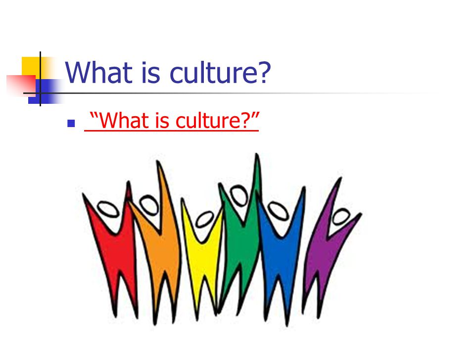 What is culture What is culture (8 minutes total.)