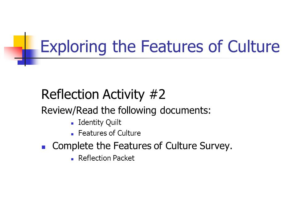 Exploring the Features of Culture