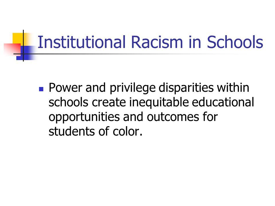 Institutional Racism in Schools