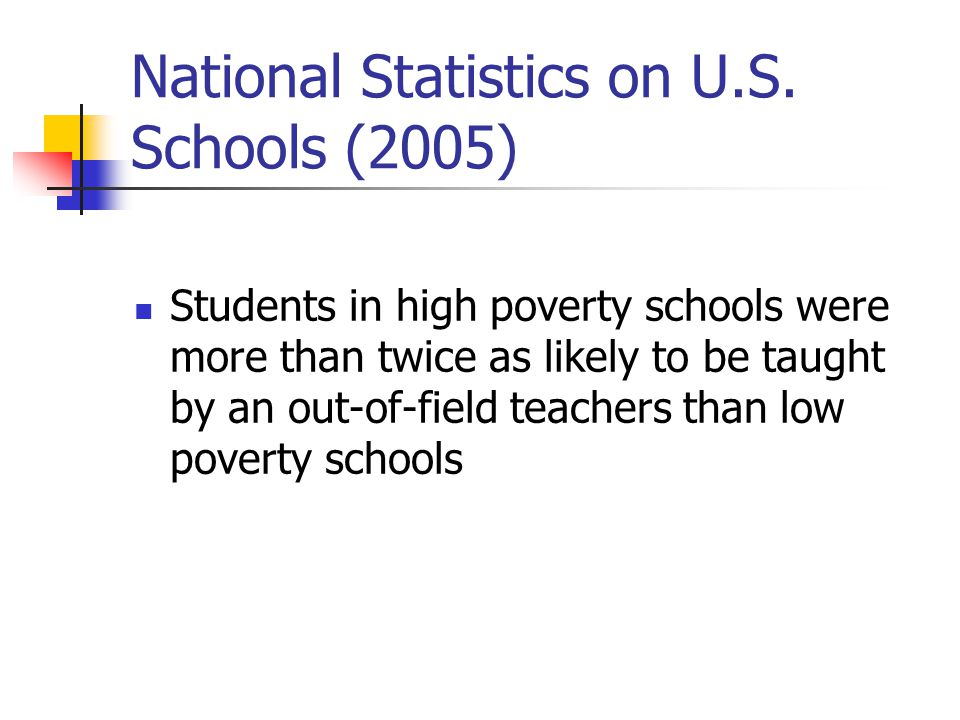 National Statistics on U.S. Schools (2005)