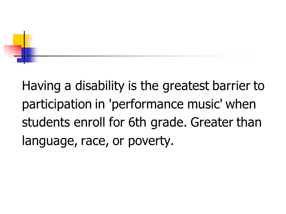 Having a disability is the greatest barrier to