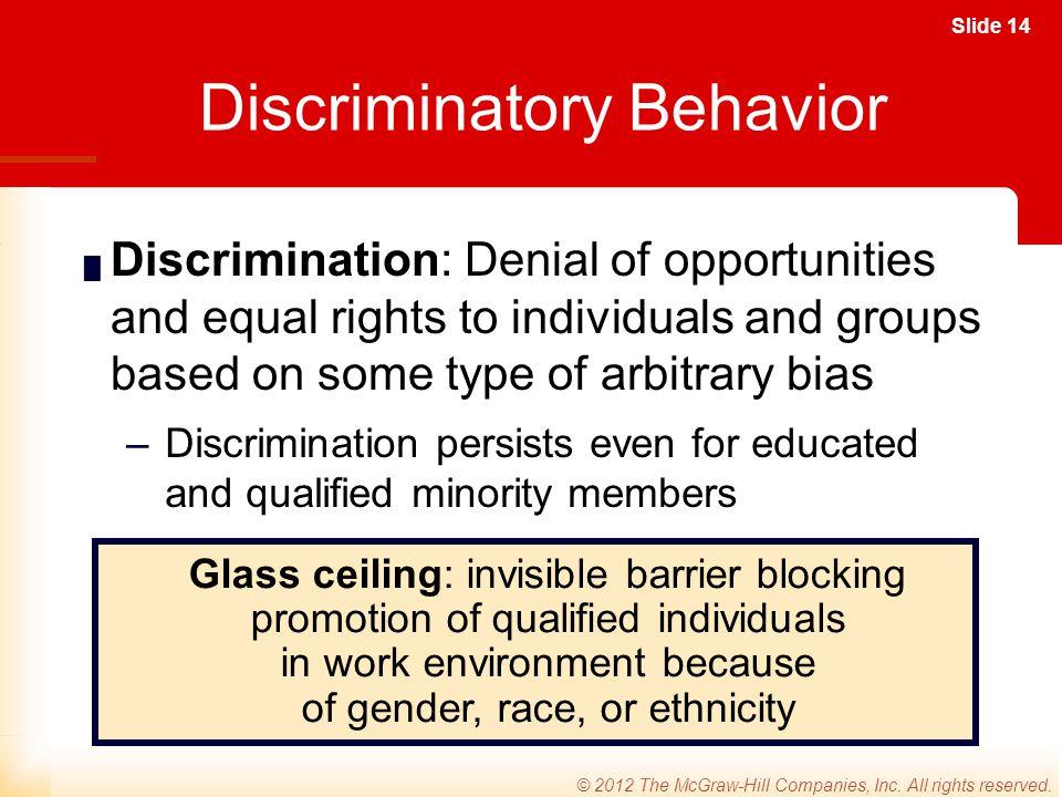 Discriminatory Behavior