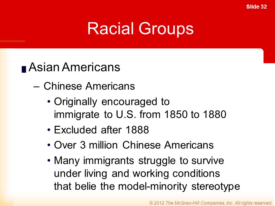 Racial Groups Asian Americans Chinese Americans