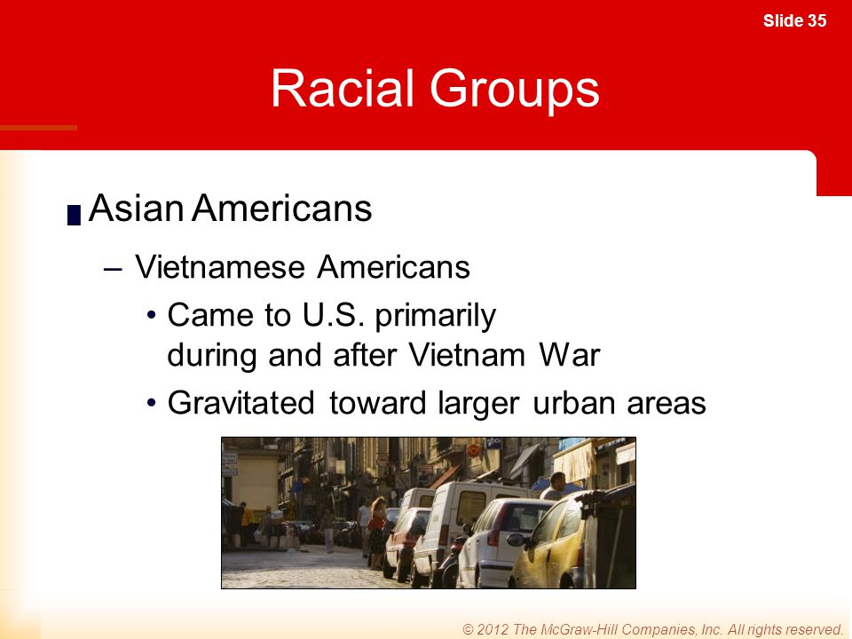 Racial Groups Asian Americans Vietnamese Americans