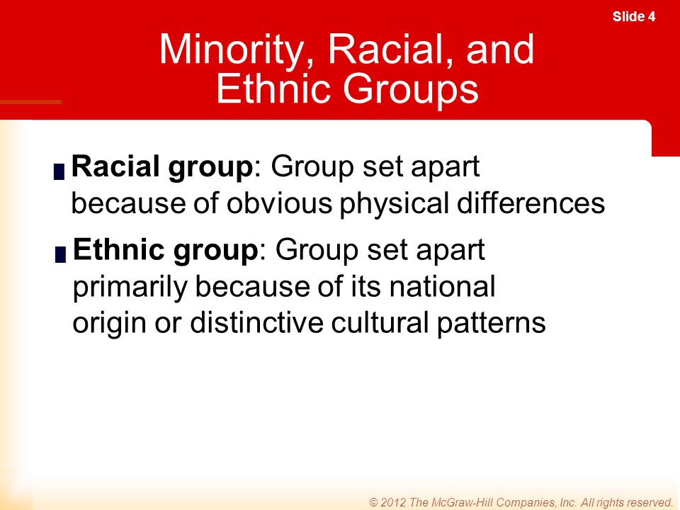 Minority, Racial, and Ethnic Groups