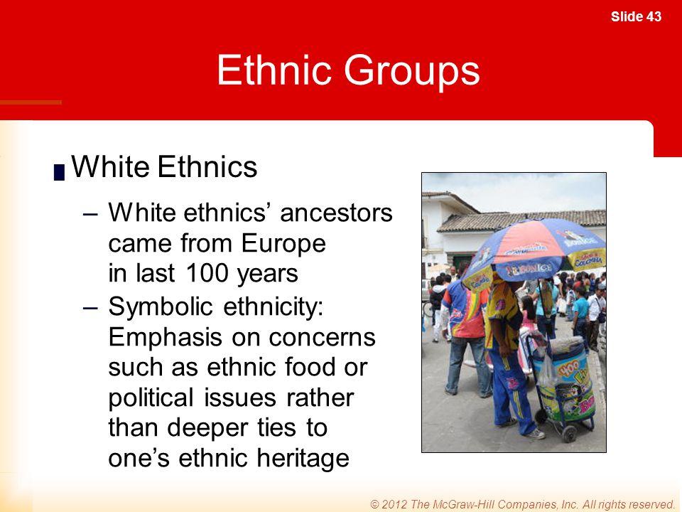 Ethnic Groups White Ethnics