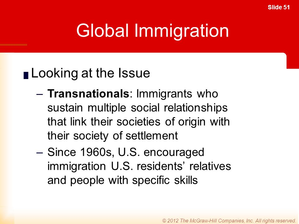 Global Immigration Looking at the Issue