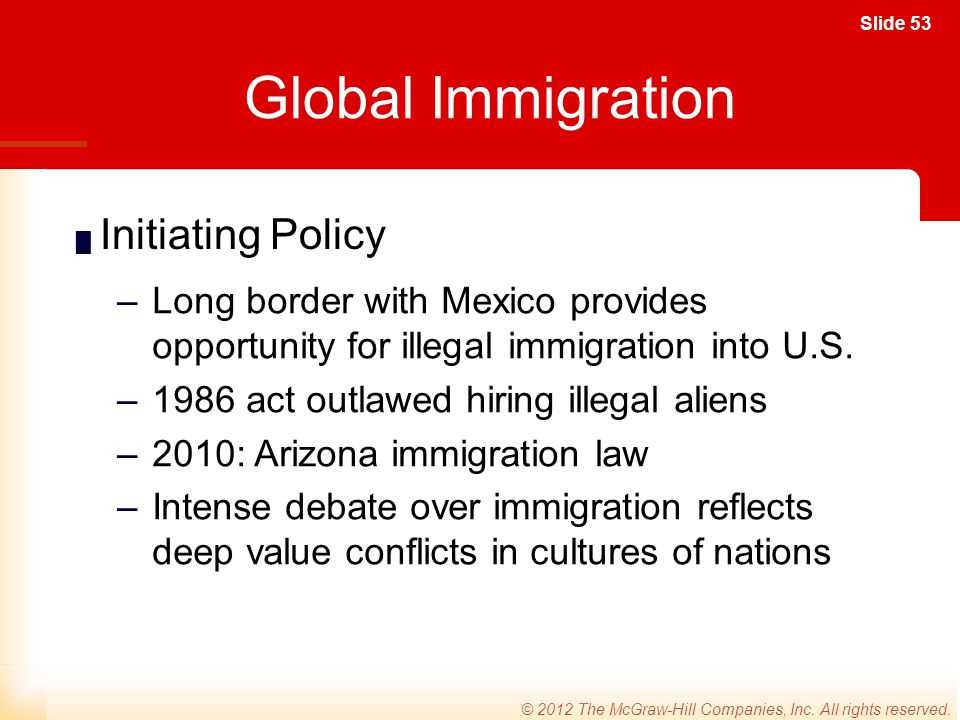 Global Immigration Initiating Policy