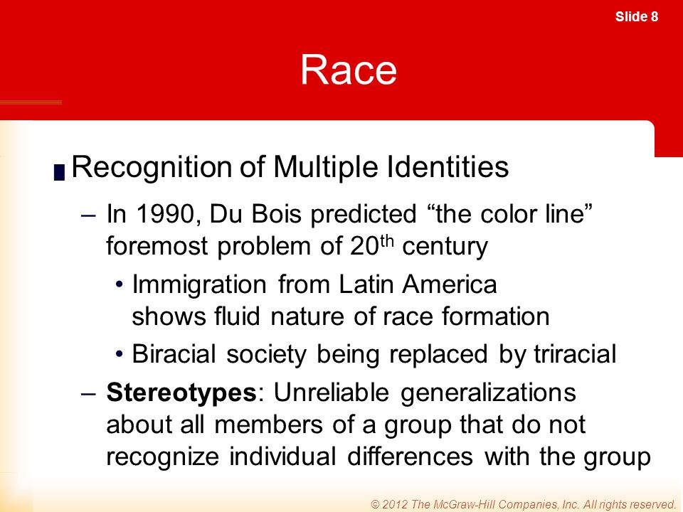 Race Recognition of Multiple Identities