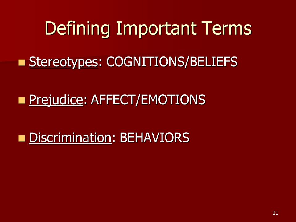 Defining Important Terms