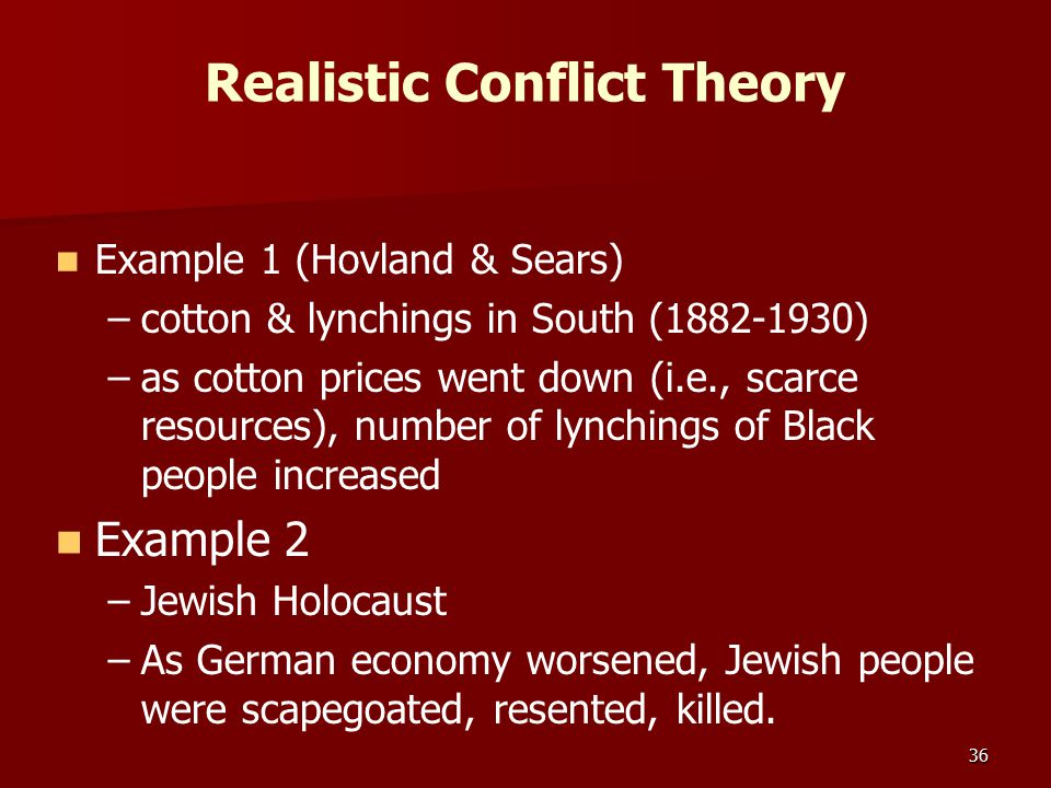 Realistic Conflict Theory