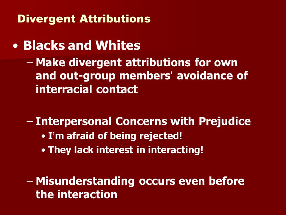 Blacks and Whites Divergent Attributions