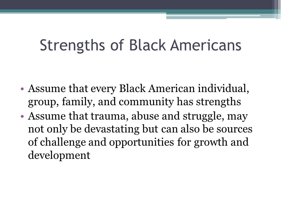 Strengths of Black Americans