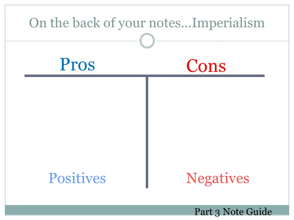 On the back of your notes…Imperialism