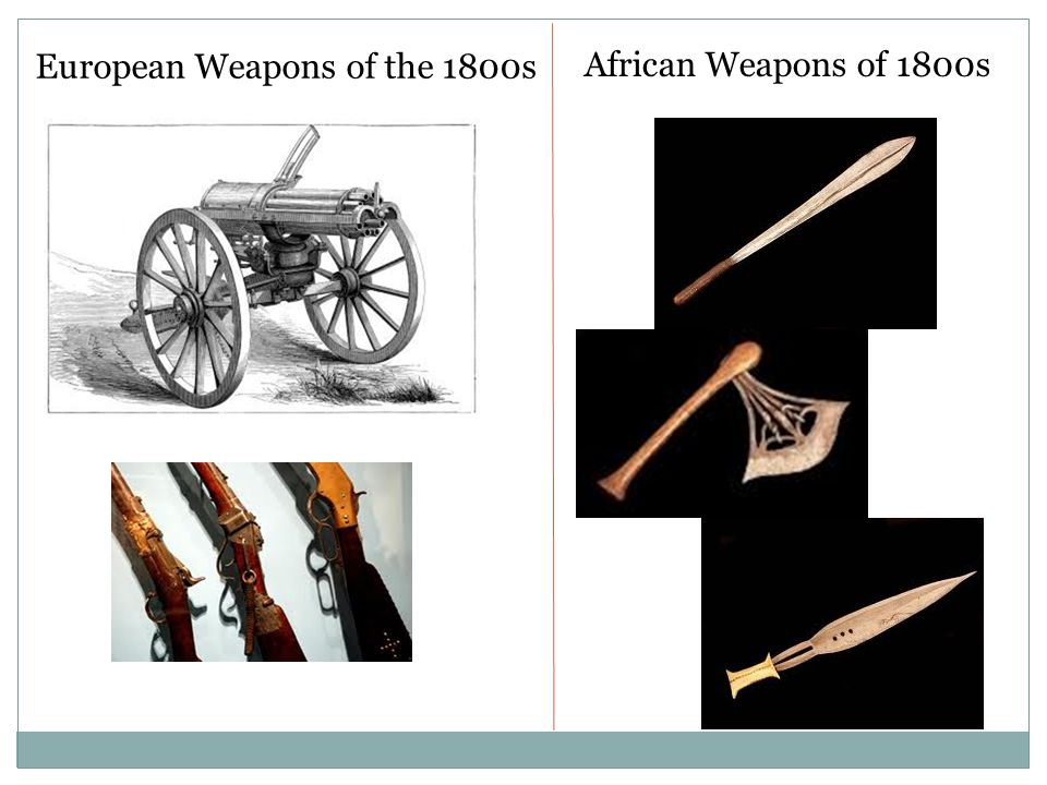 European Weapons of the 1800s