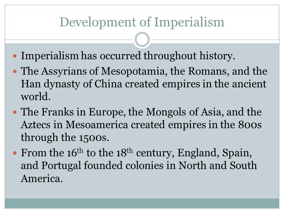 Development of Imperialism