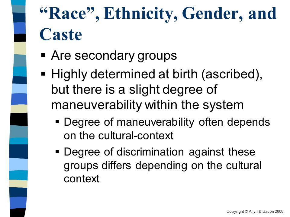 Race , Ethnicity, Gender, and Caste