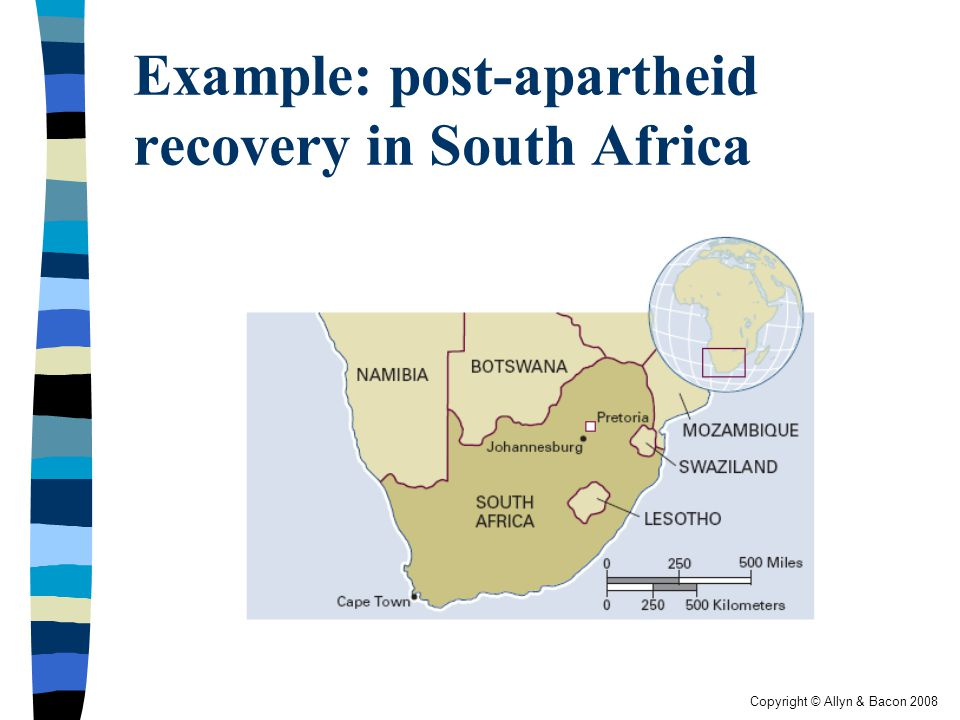 Example: post-apartheid recovery in South Africa
