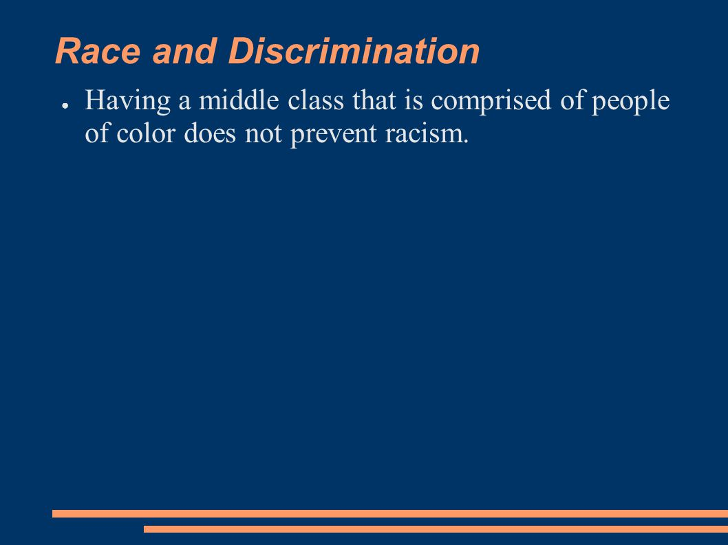 Race and Discrimination
