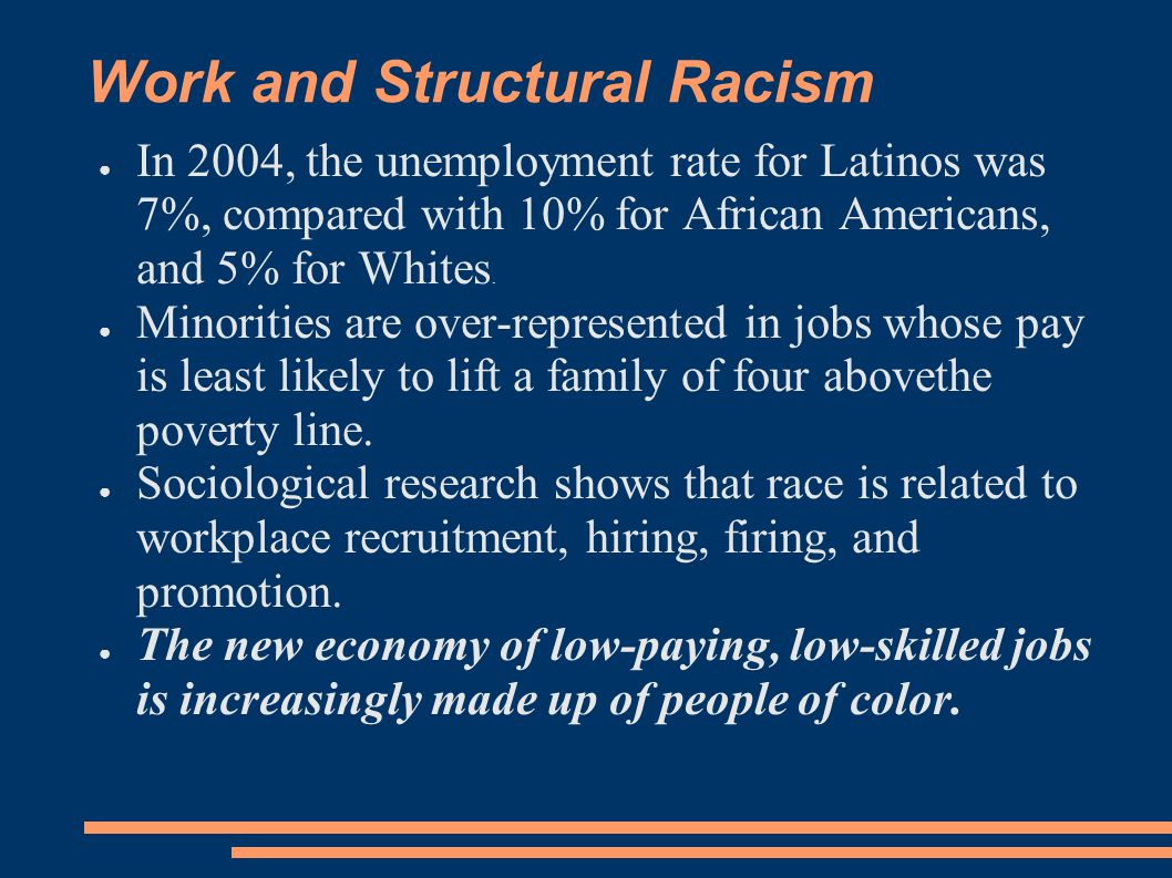 Work and Structural Racism