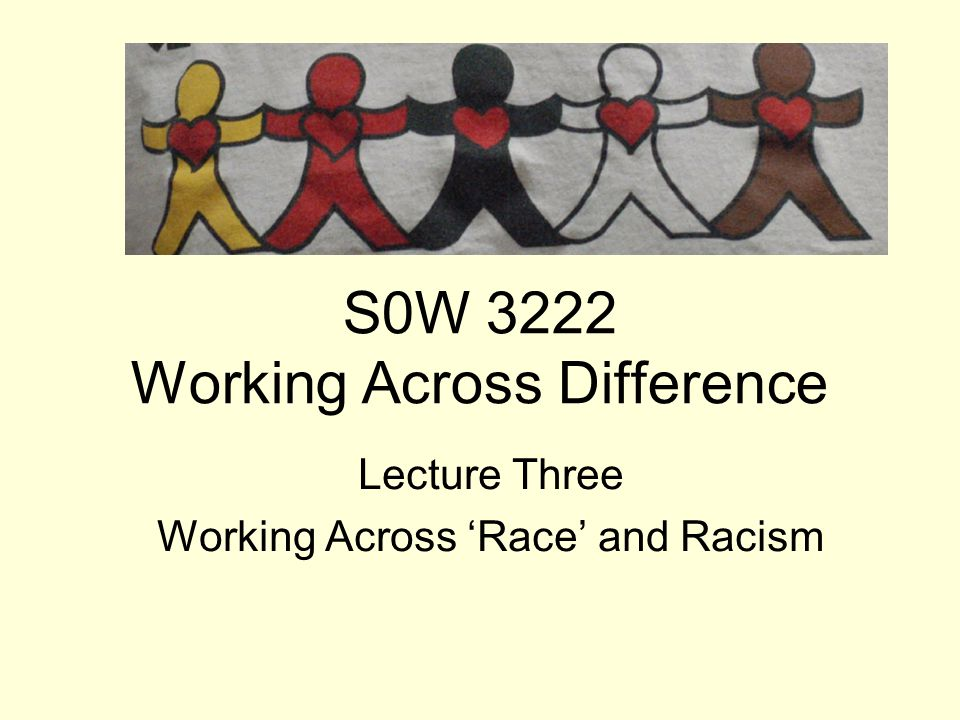 S0W 3222 Working Across Difference
