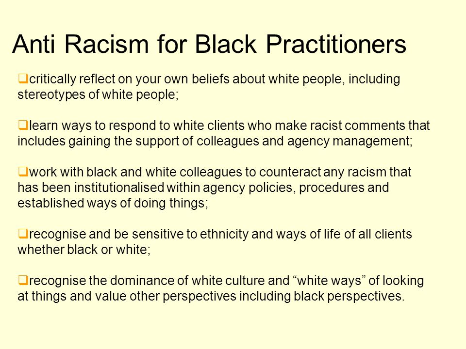 Anti Racism for Black Practitioners