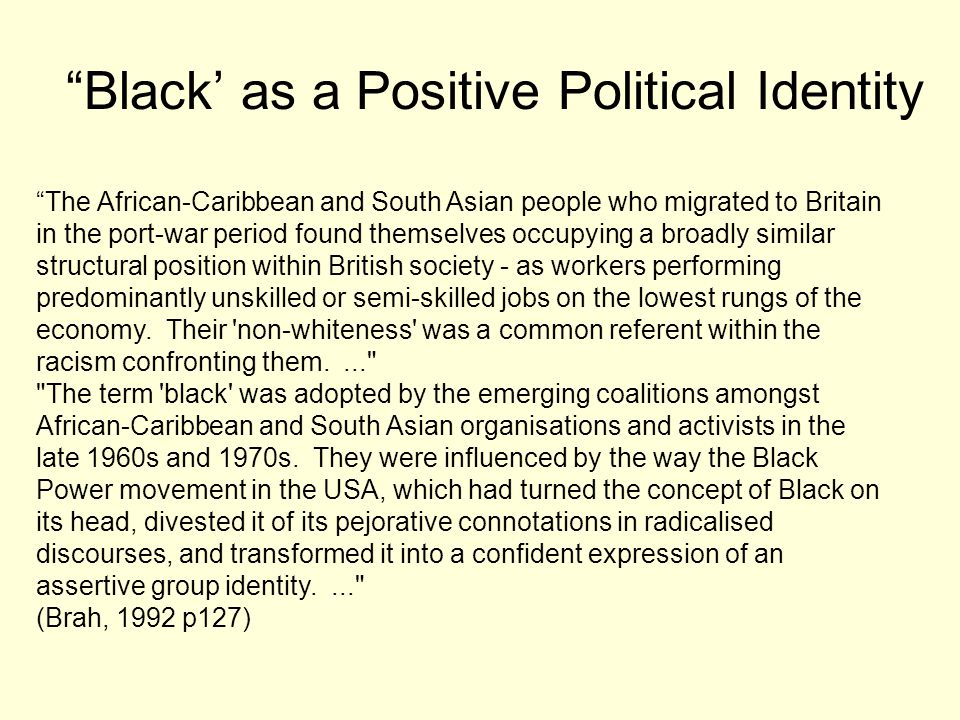 Black' as a Positive Political Identity