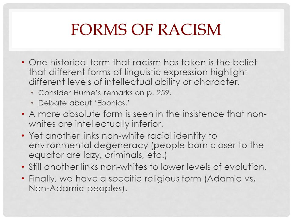 Forms of Racism