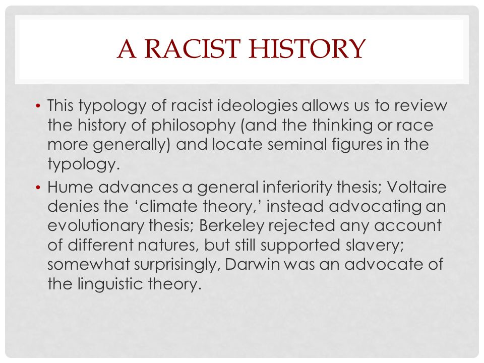 A Racist History