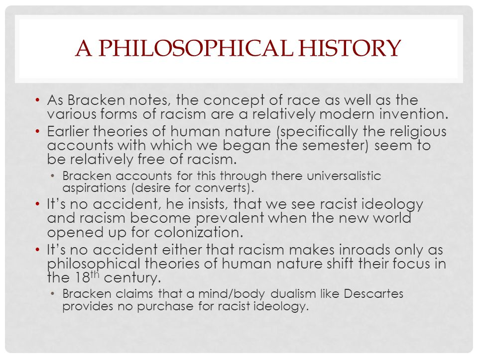 A Philosophical History