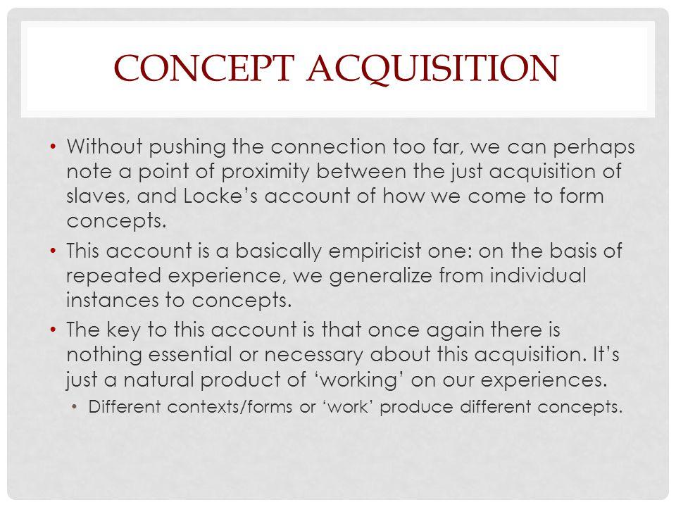 Concept Acquisition