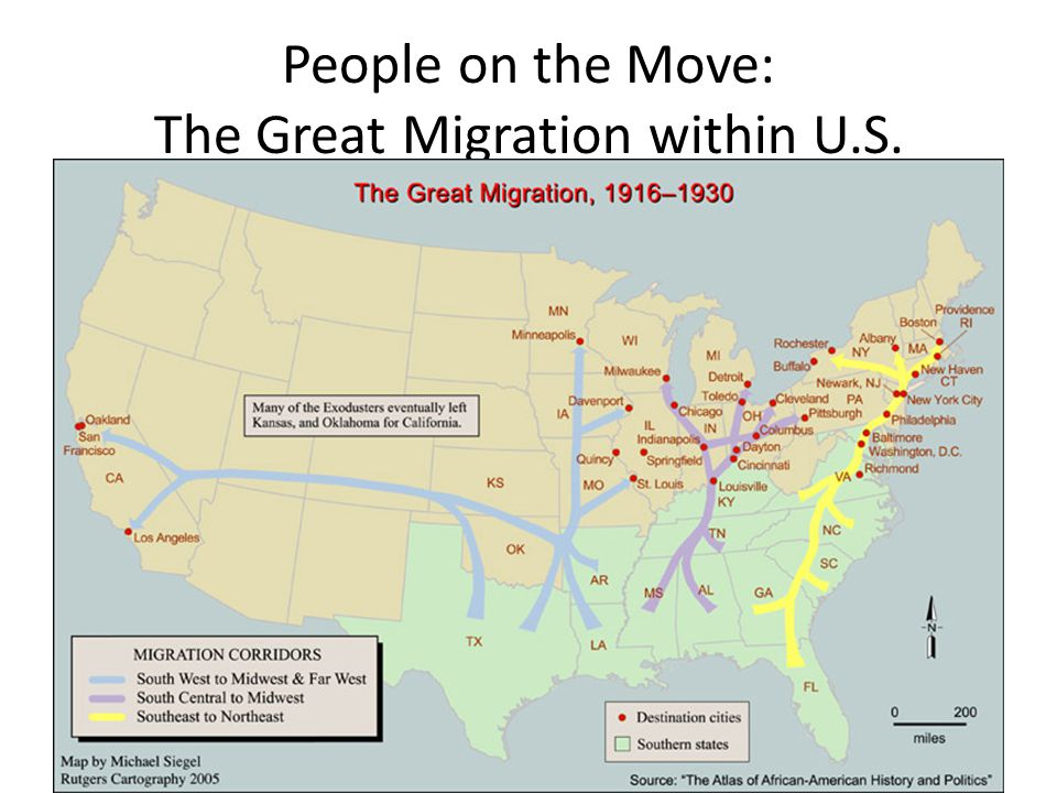People on the Move: The Great Migration within U.S.