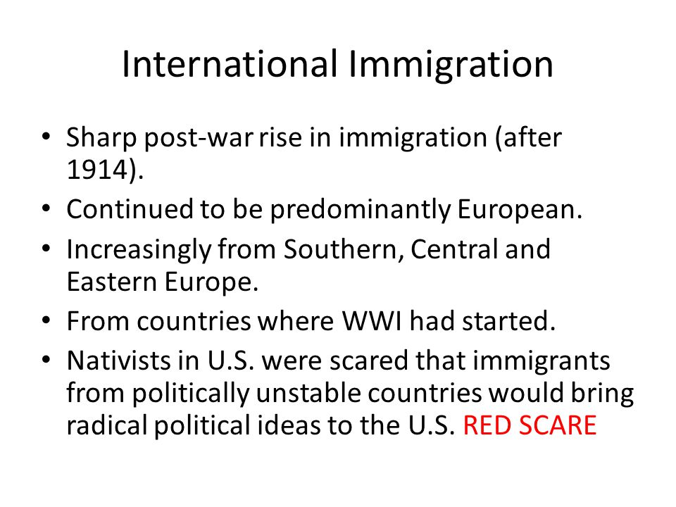 International Immigration