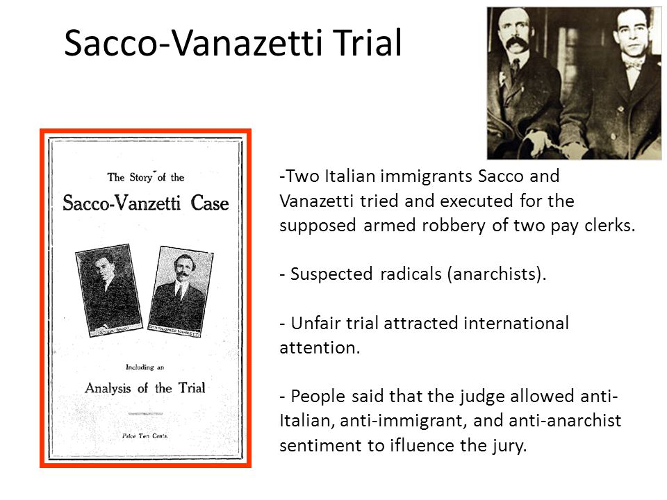 Sacco-Vanazetti Trial