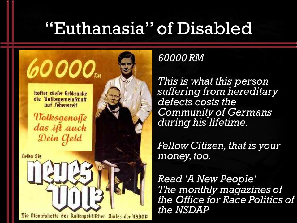 Euthanasia of Disabled